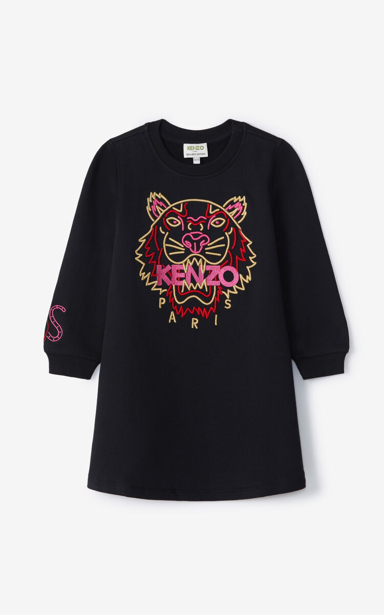BLACK 'Chinese New Year Capsule' Tiger Skater Dress for men KENZO