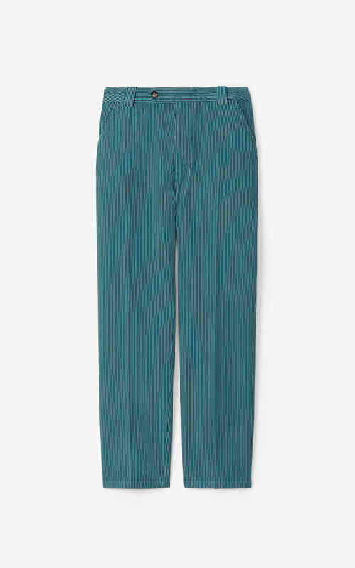 GLACIER Striped cropped trousers for unisex KENZO