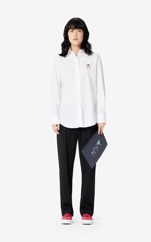 WHITE 'Cupid' shirt for women KENZO