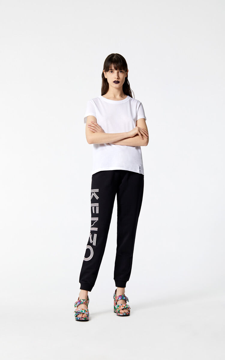 BLACK KENZO Logo Joggers for women