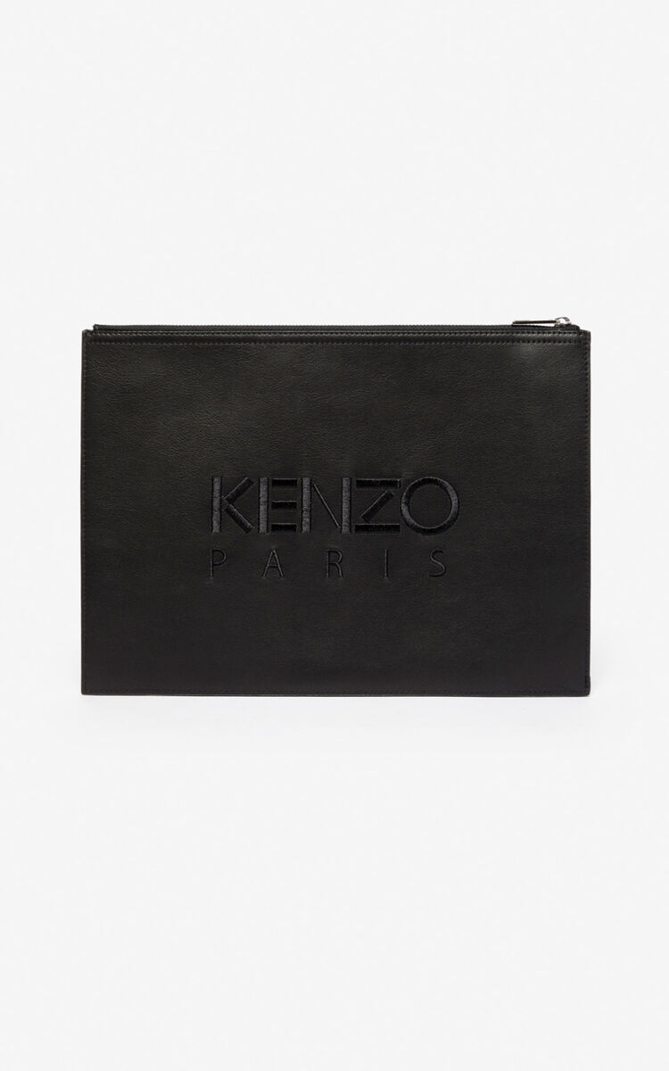 BLACK Tiger briefcase for unisex KENZO
