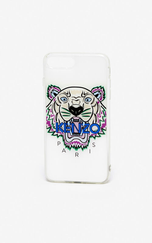 WHITE iPhone 8+ Tiger case for unisex KENZO