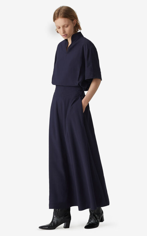 NAVY BLUE Long dress for women KENZO