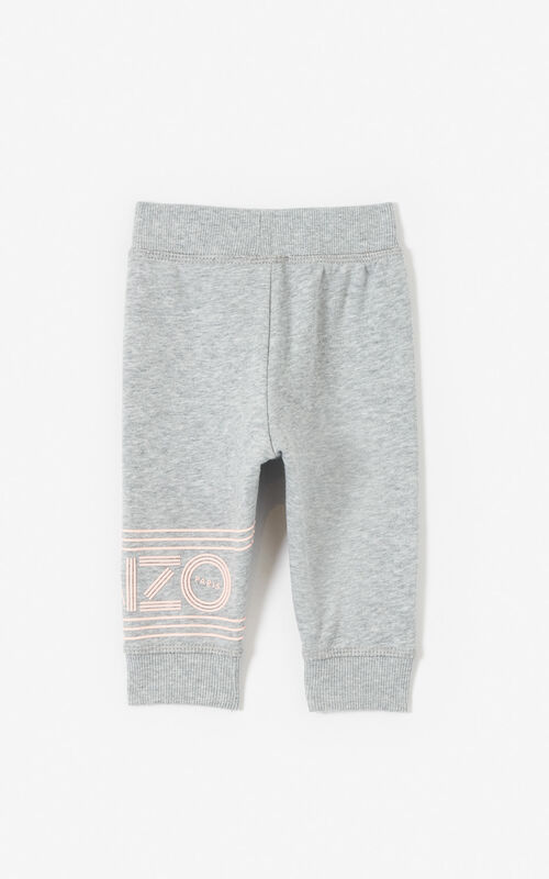 MIDDLE GREY KENZO Logo joggers for women