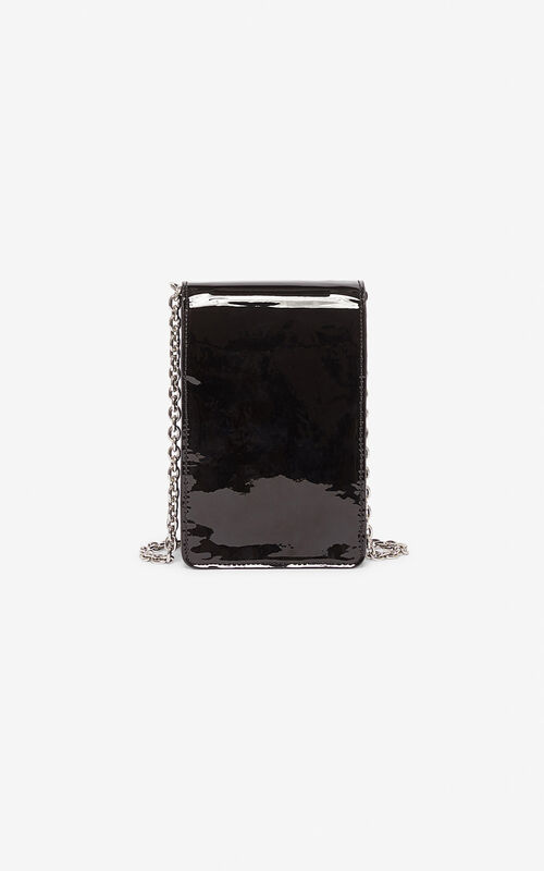BLACK Tiger phone case with chain for unisex KENZO