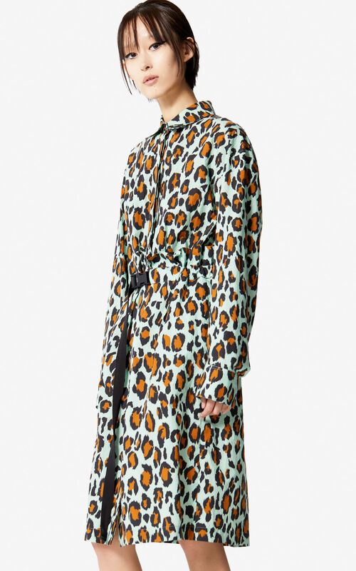 MINT Leopard print shirt dress for women KENZO