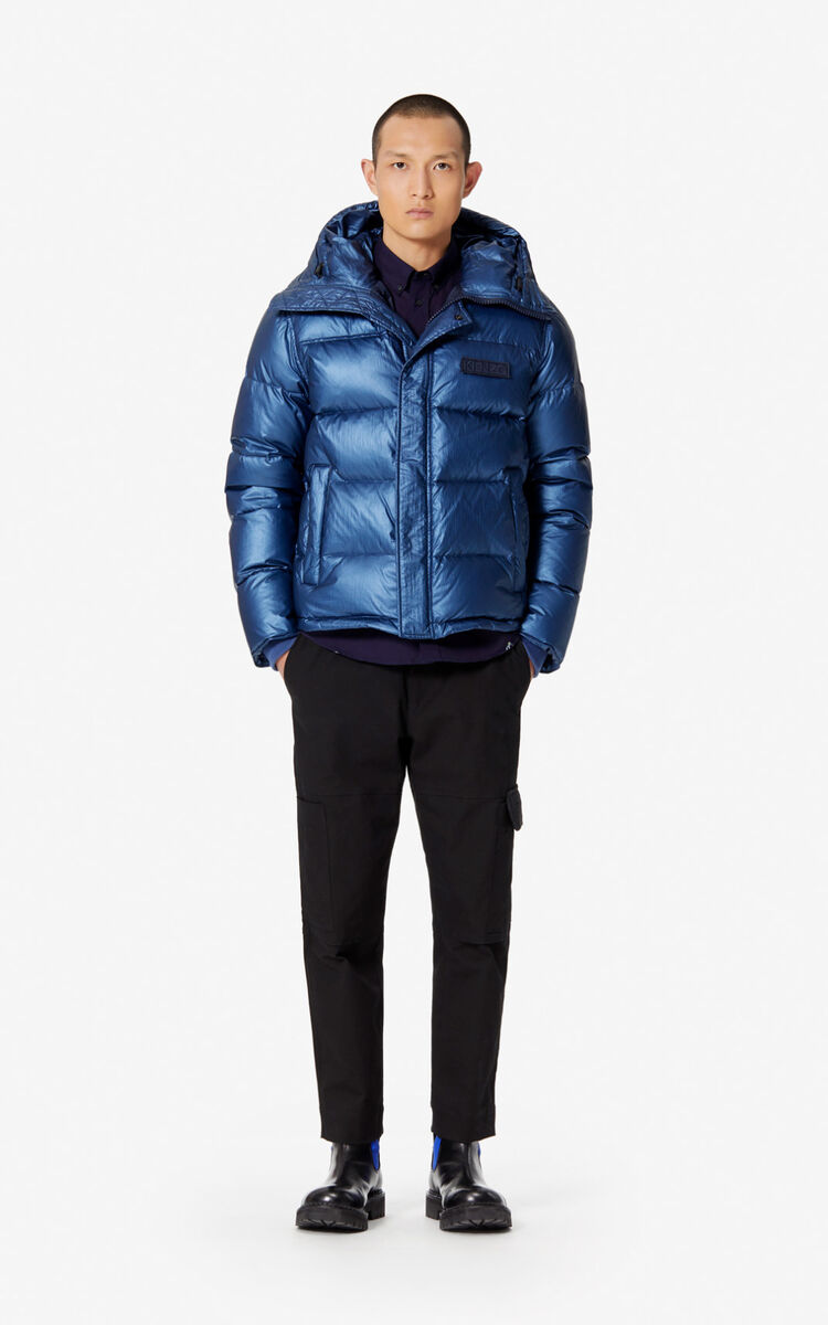 SLATE BLUE Quilted puffer jacket for global.none KENZO