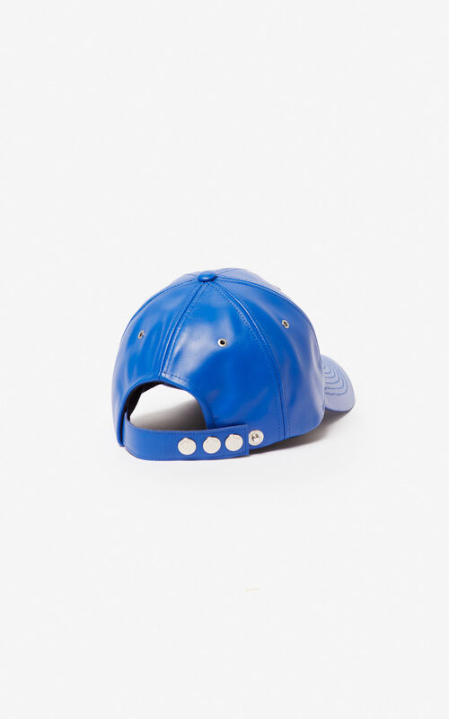 COBALT Leather cap KENZO Paris for men