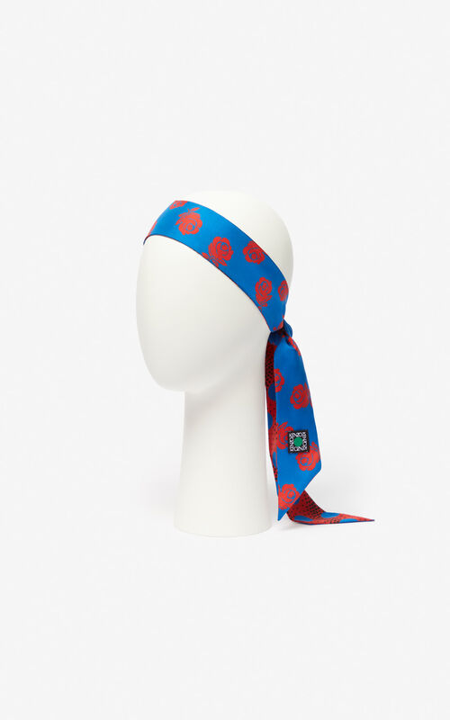 COBALT 'Dots & Roses' reversible scarf for unisex KENZO