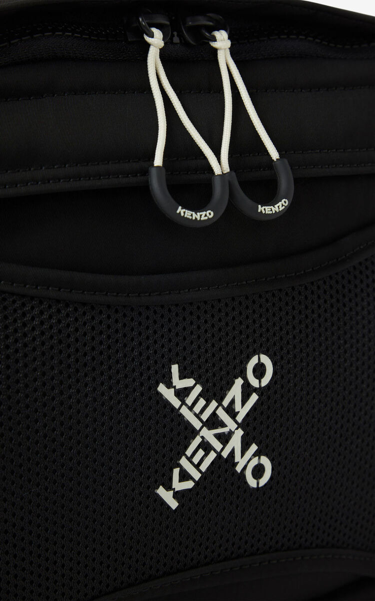 BLACK KENZO Sport 'Little X' harness bag for unisex