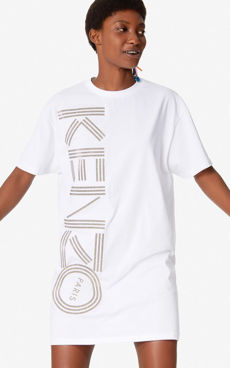WHITE Kenzo Logo T-shirt dress for women