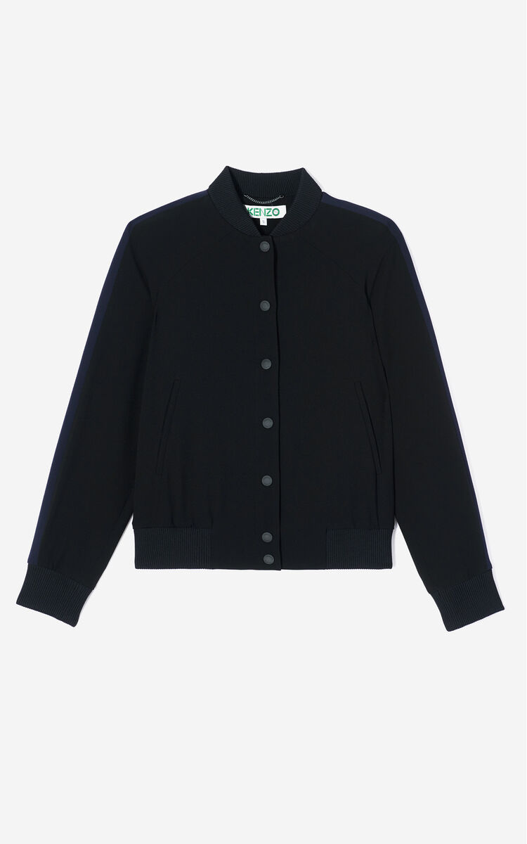BLACK 'Bamboo Tiger' Teddy jacket for women KENZO