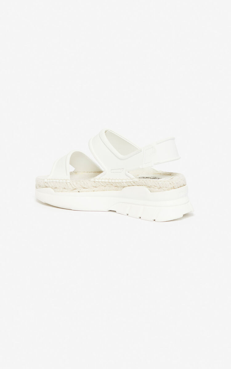 WHITE K-Lastic sandals for women KENZO