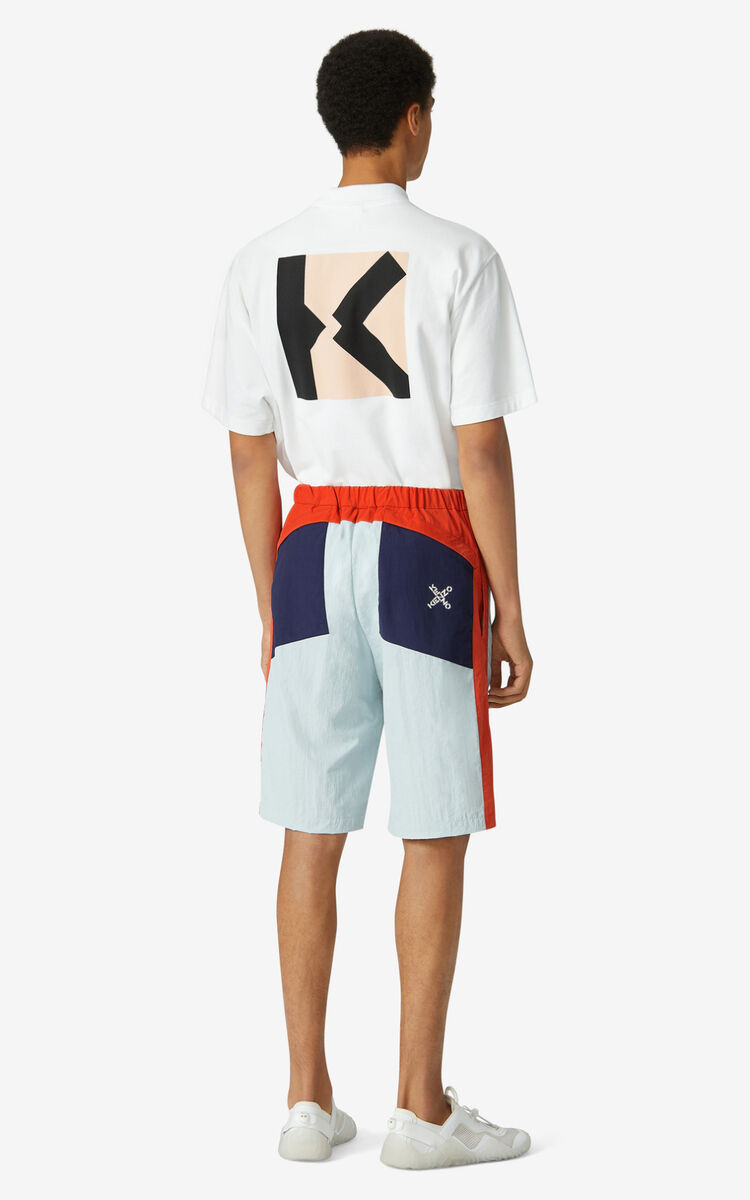 PALE GREY KENZO Sport shorts for women