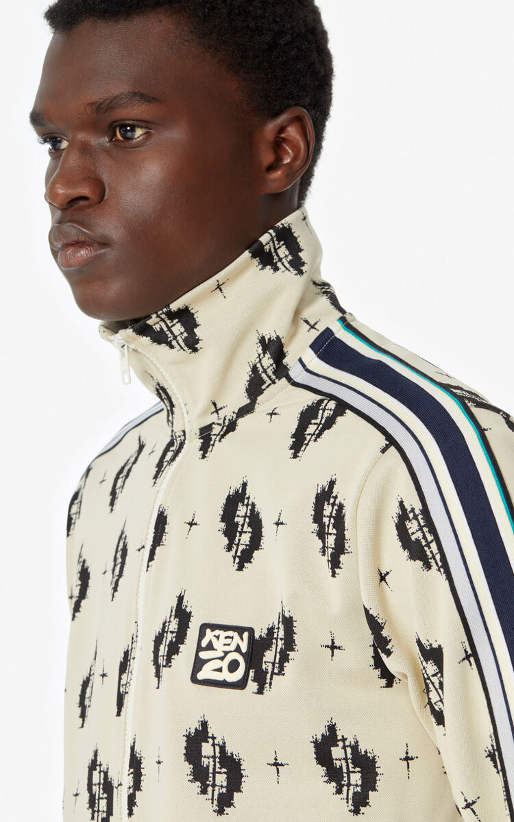 ECRU 'Ikat' zipped jacket for men KENZO