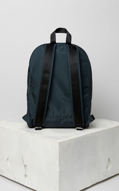 DARK GREY Large Tiger Canvas backpack for men KENZO