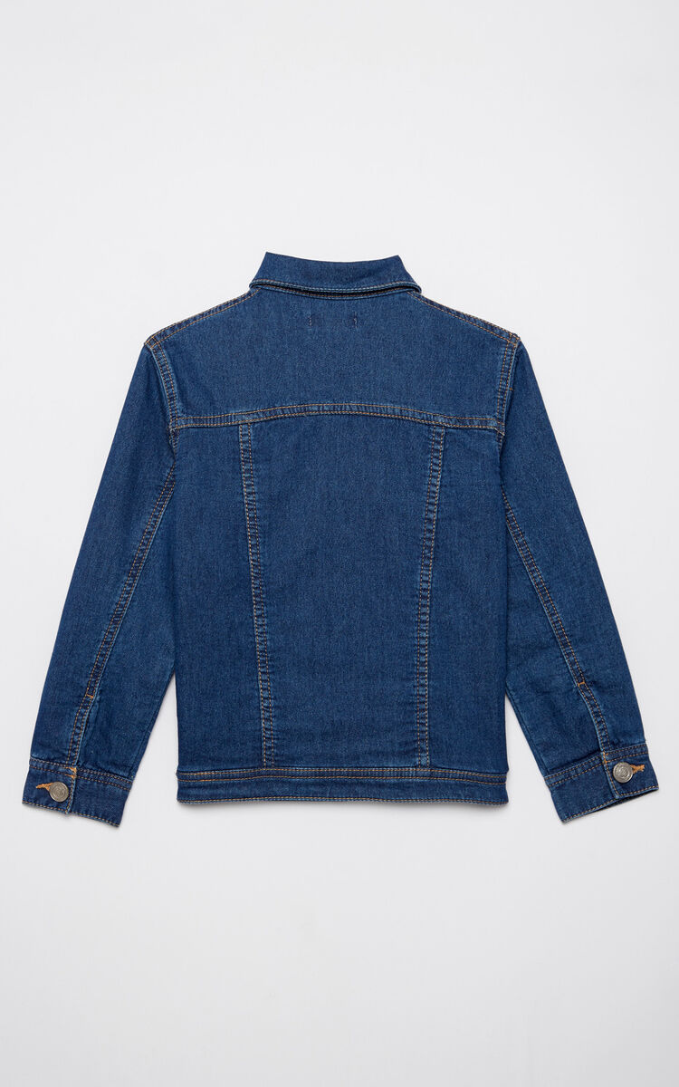 ROYAL BLUE 'Food Fiesta' denim jacket for women KENZO
