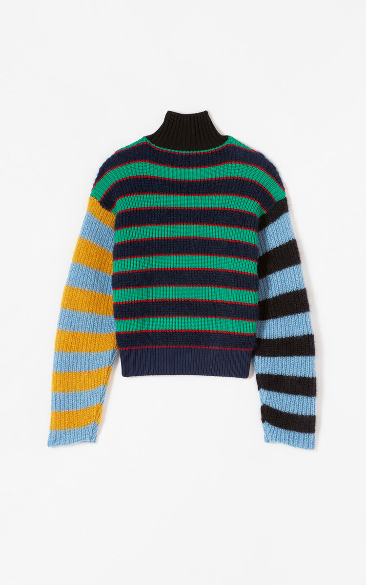MULTICOLOR Colourblock striped jumper for women KENZO