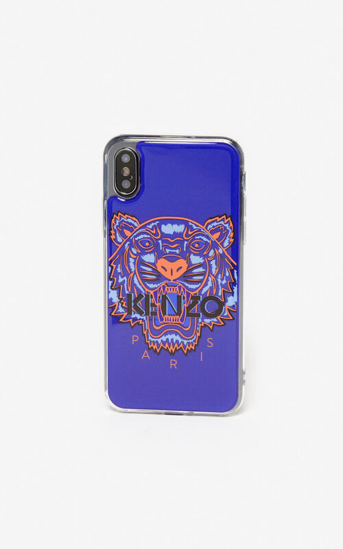 DEEP SEA BLUE Tiger iPhone X/XS case for unisex KENZO