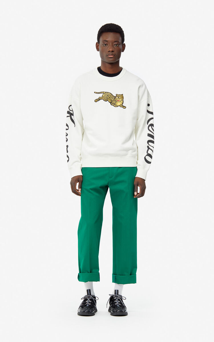 ECRU 'Jumping Tiger' sweatshirt for men KENZO