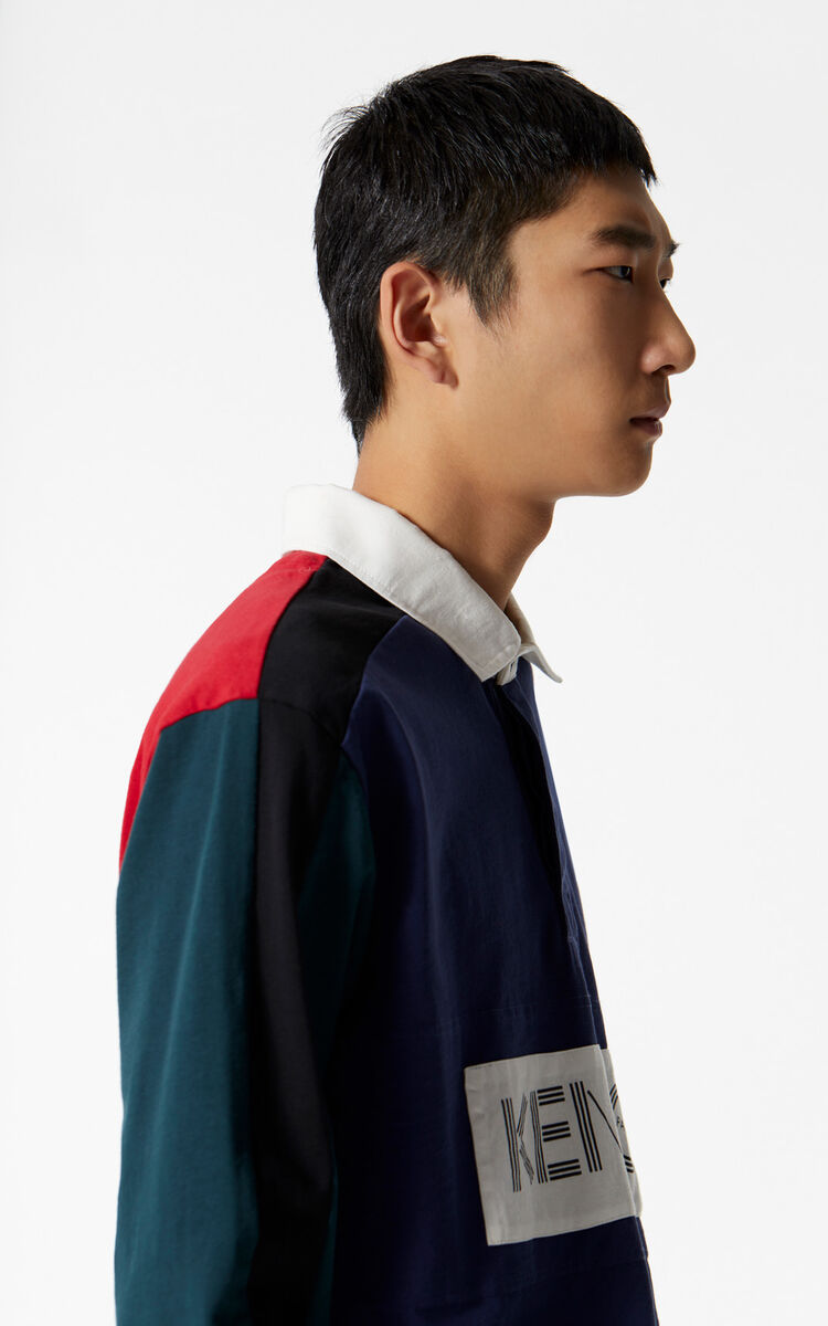 INK KENZO colorblock regular fit polo shirt for men