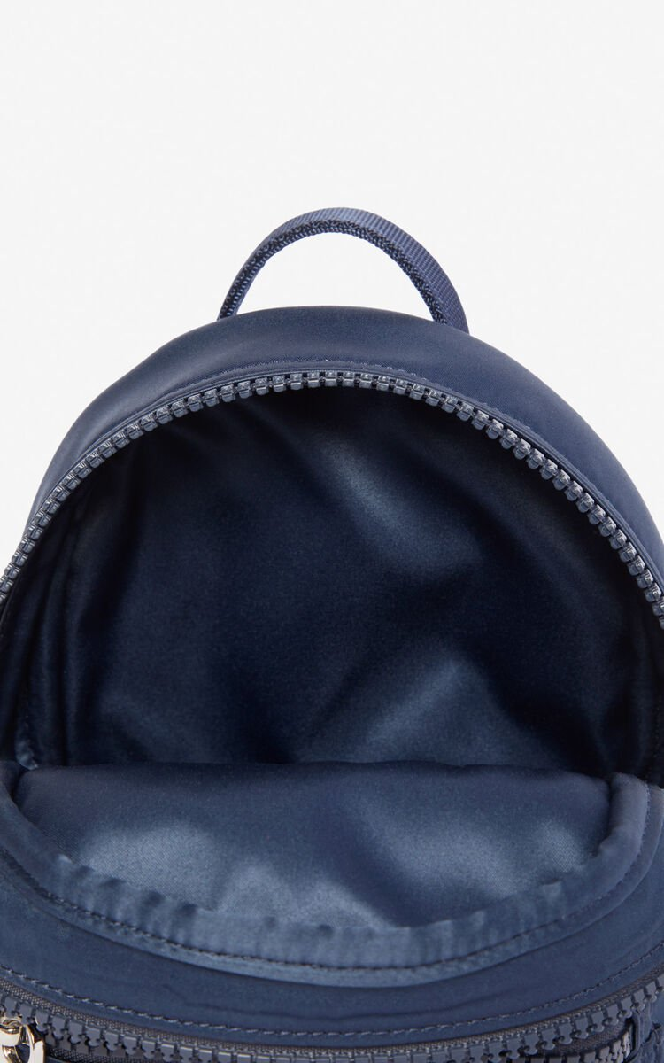 MIDNIGHT BLUE Mini satin Tiger backpack 'Holiday Capsule' for women KENZO