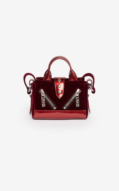PEONY RED 24 Micro Kalifornia handbag  'Holiday Capsule' for unisex KENZO