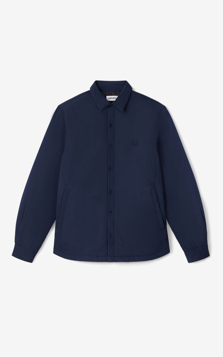 NAVY BLUE Padded shirt for men KENZO
