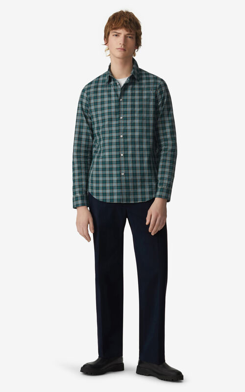 PINE Checked slim-fit shirt for men KENZO
