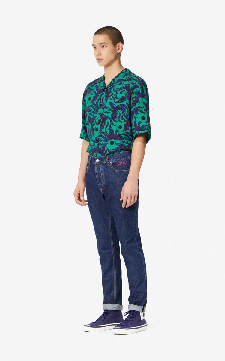 NAVY BLUE Tapered Jeans for women KENZO