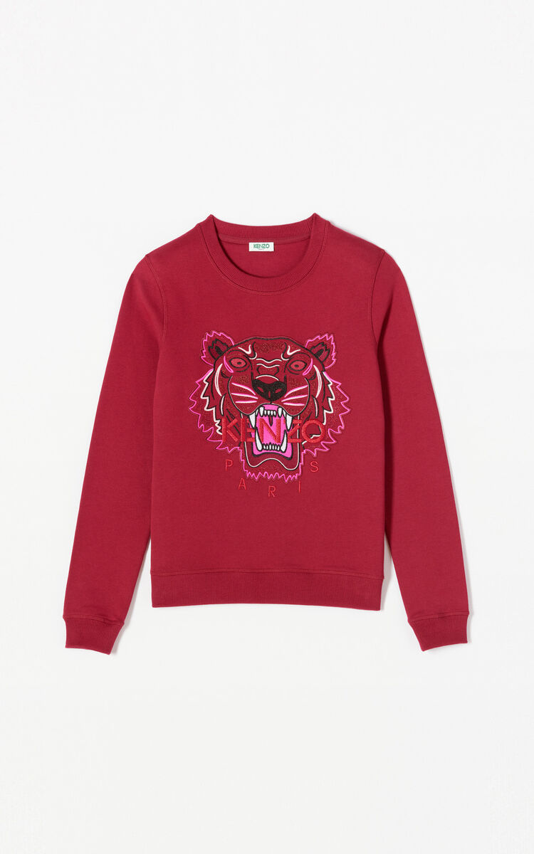 PEONY RED 24 Tiger sweatshirt 'Holiday Capsule' for women KENZO