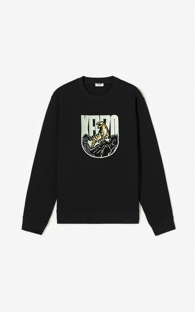 BLACK 'Tiger Mountain' 'Capsule Expedition' sweatshirt for women KENZO