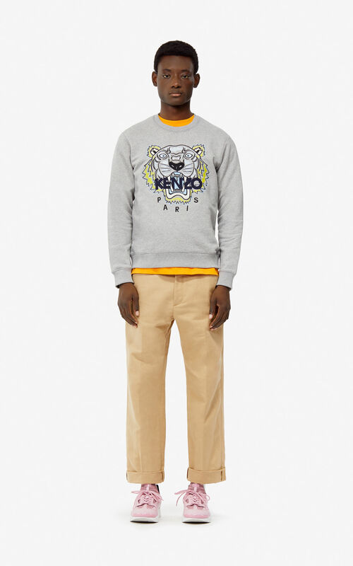 0eac8980 ... PEARL GREY Tiger sweatshirt for men KENZO