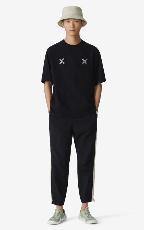 BLACK Oversized KENZO Sport 'Triple X' t-shirt for women