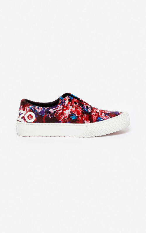 MEDIUM RED 'KENZO World' K-Skate sneakers for unisex