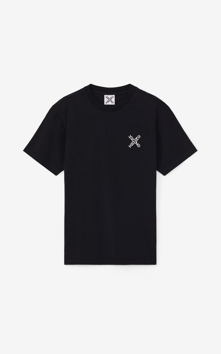 BLACK KENZO Sport 'Little X' t-shirt for men