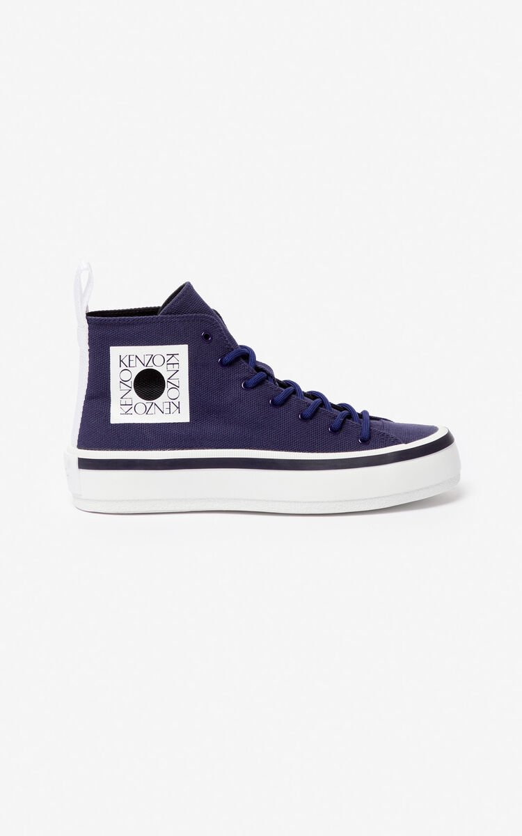 MIDNIGHT BLUE 'Square Logo' K-Street trainers for women KENZO