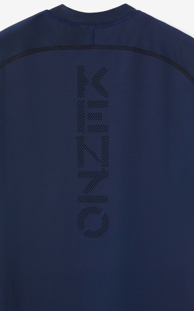 MIDNIGHT BLUE KENZO Sport slim-fit T-shirt  for women