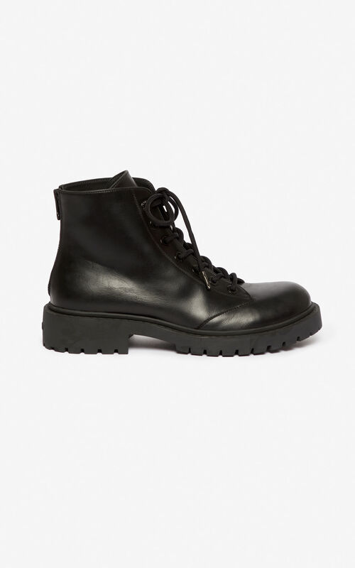BLACK Pike boots for men KENZO