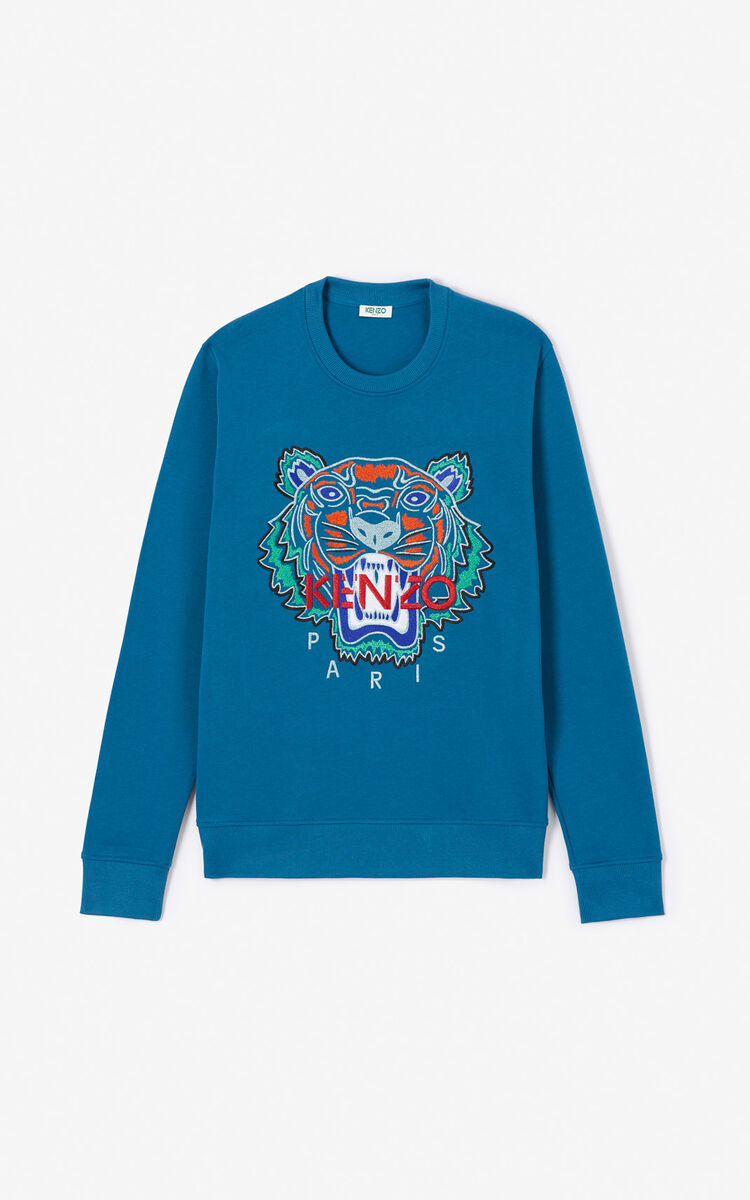 BLUE 'Holiday Capsule' Tiger sweatshirt for men KENZO