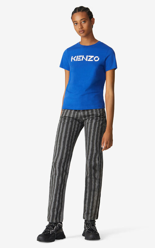 ROYAL BLUE KENZO Logo T-shirt for women