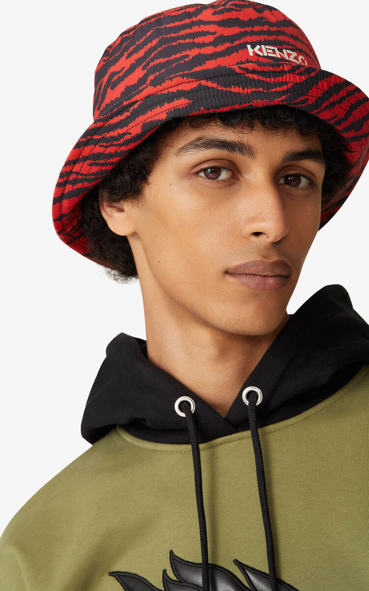 MEDIUM RED Bucket hat for unisex KENZO