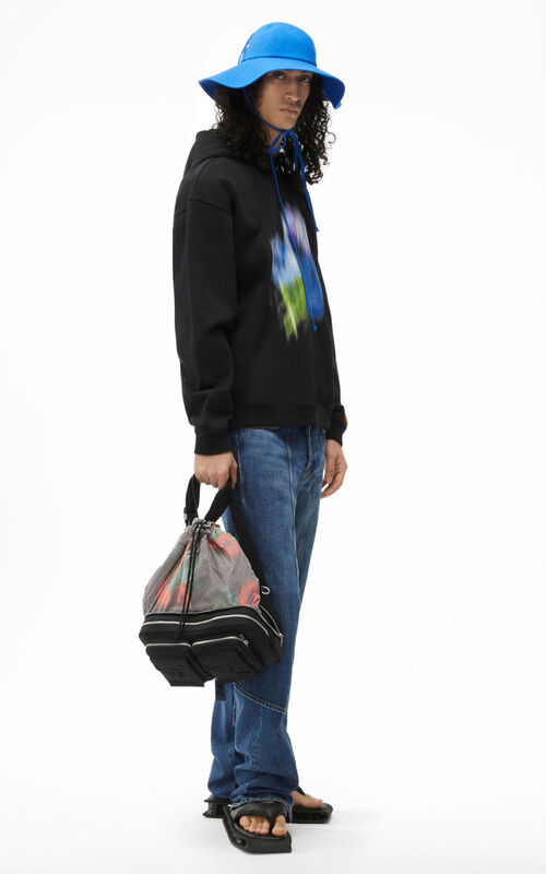 BLACK Oversize 'Coquelicot' hooded sweatshirt for men KENZO
