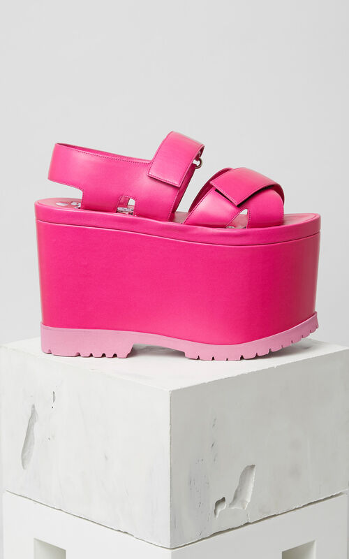 DEEP FUSCHIA Oversize Platform Sandals for women KENZO