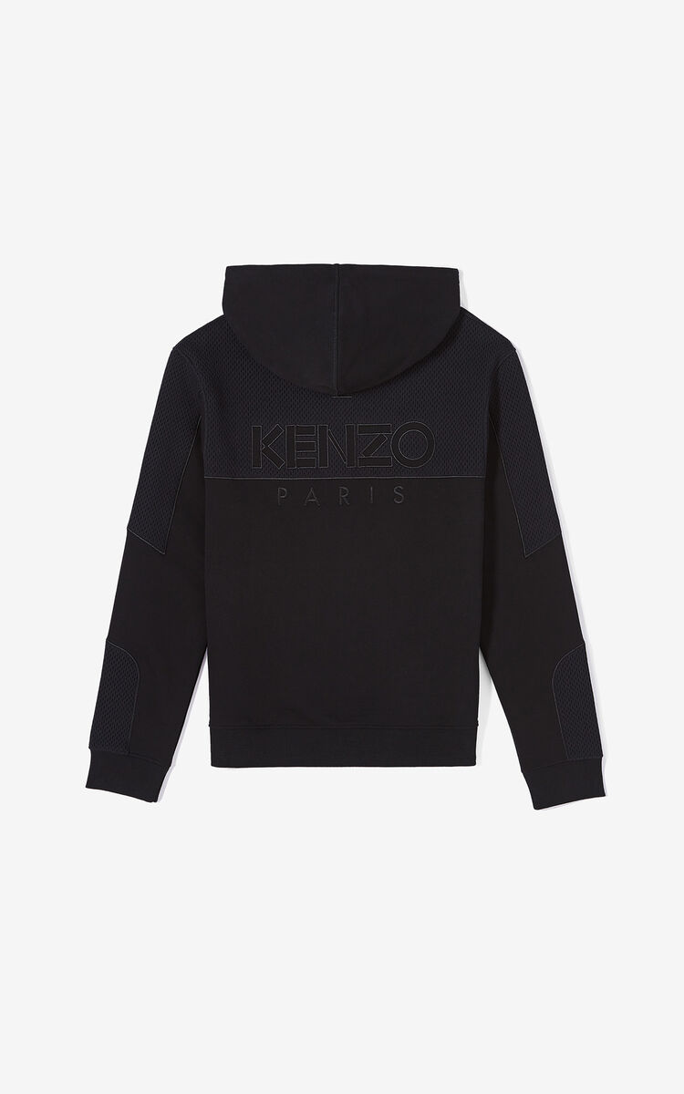 BLACK KENZO Paris dual-fabric jacket for men