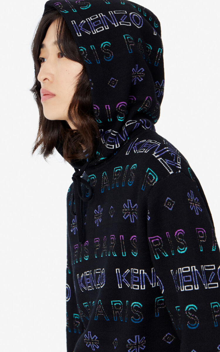 MULTICOLOR 'Holiday Capsule' hooded KENZO Paris jumper for women