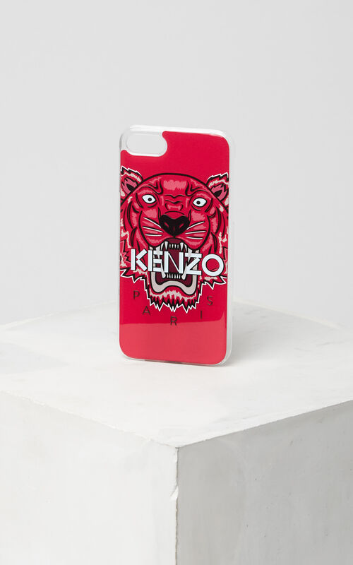3D Tiger iPhone 7 case, DEEP FUSCHIA, KENZO
