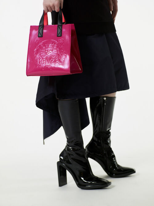 DEEP FUSCHIA Mini Tiger Tote Bag for unisex KENZO