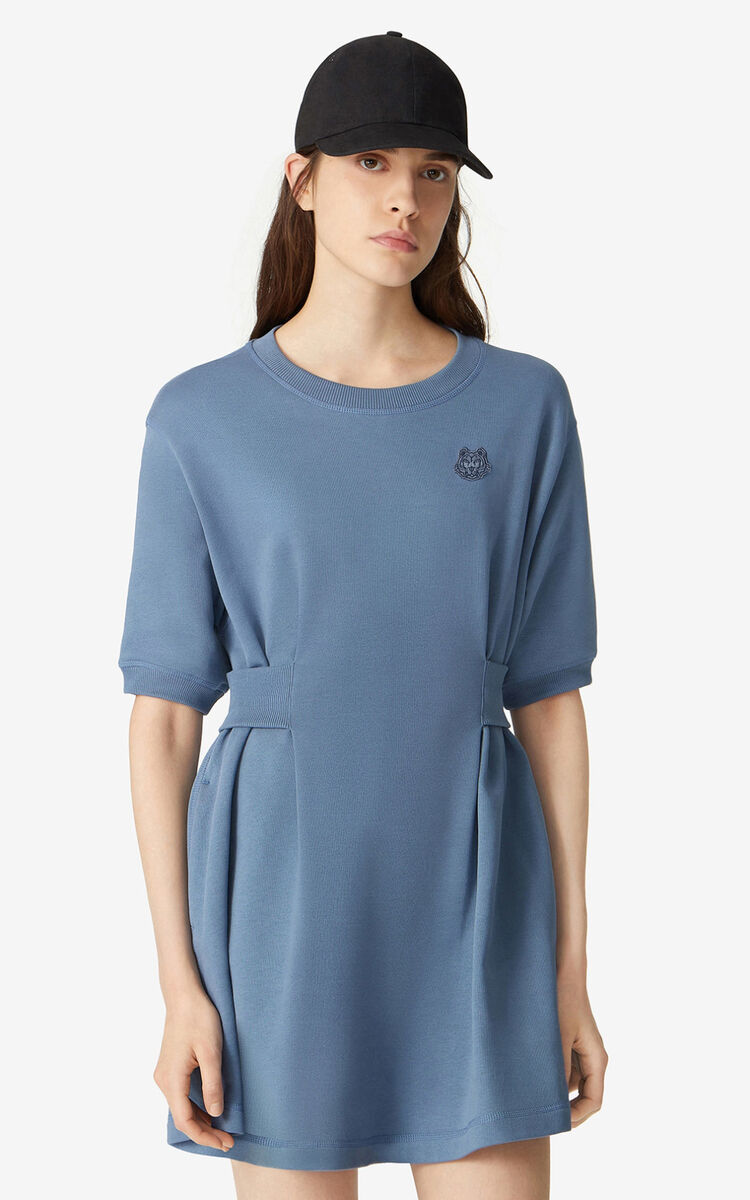 BLUE Tiger Crest fitted sweatshirt dress for men KENZO