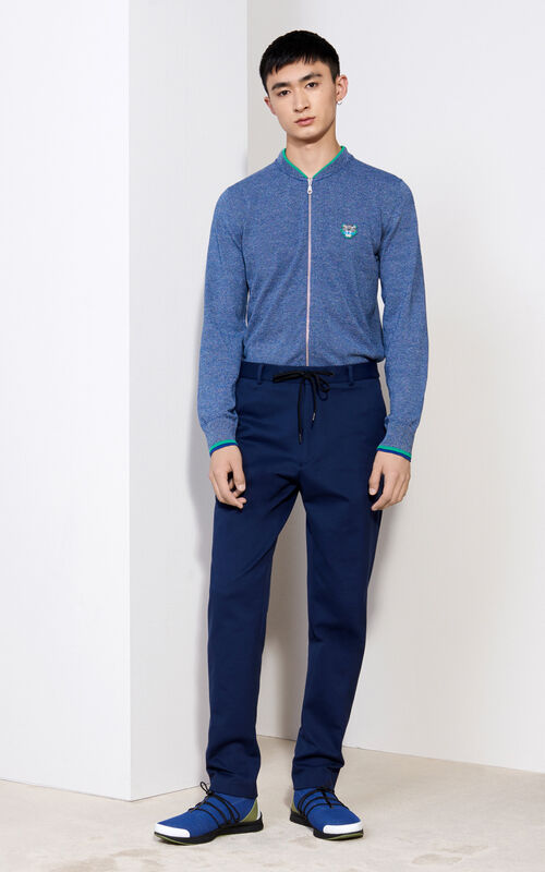Soft Touch Casual Pants, MIDNIGHT BLUE, KENZO